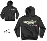 Striped Bass Heavy Dry Blend Hoodie