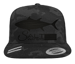 Salt Waters Tuna SnapBack Hat Black Out
