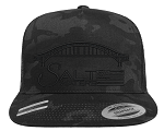 Salt Waters Robert Moses Bridge SnapBack Hat Black Out