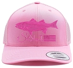 Salt Waters Striped Bass SnapBack Hat Pink on Pink