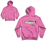 Hoodie Striped Bass USA Logo Pink
